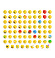 left-oriented isometric emojis emoticons vector image vector image