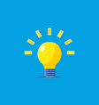 light bulb with blue background vector image vector image