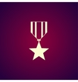 medal icon Flat design style vector image vector image