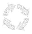 mesh circulation icon vector image