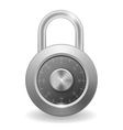 Mettalic Security Padlock vector image
