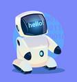 modern robot says hello futuristic artificial vector image vector image