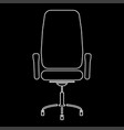 office chair white color path icon vector image vector image