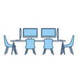 office workplace meeting room escene icon vector image vector image