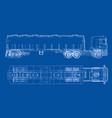 oil truck sketch vector image