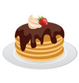 pancakes isolated vector image vector image