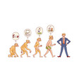 people evolution from monkey to business vector image vector image