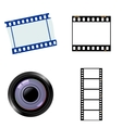 photographic and cinematic objects vector image vector image