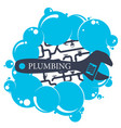 plumbing and water drops vector image vector image