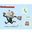 robot businessman vector image