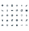 set of simple green icons vector image