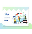 spa website landing page design template vector image vector image