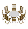 summer table with chairs isometric view 3d vector image vector image