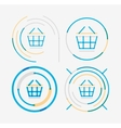Thin line neat design logo set shopping cart icon vector image