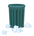 Trash Can and paper vector image