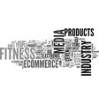 what is fitness industry text word cloud concept vector image vector image