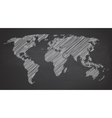 World map contour on vector image vector image
