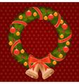 christmas wreath 1 vector image