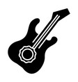 guitar icon black sign on vector image