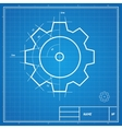 blueprint gear card vector image