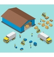Warehouse isometric flat vector image