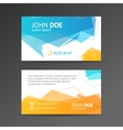 abstract geometric bubble business card vector image