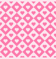 pink heart tiles seamless pattern vector image
