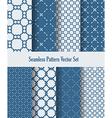seamless pattern set vector image