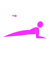 abstract fitness person vector image vector image