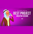 arab man banner young saudi arabic man vector image