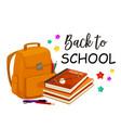 back to school rucksack poster vector image vector image