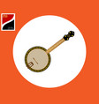 banjo american tool vector image