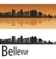 bellevue skyline in orange vector image vector image