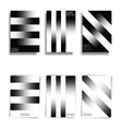 black and white gradient lines background vector image vector image