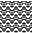 black and white vintage damask decor seamless vector image