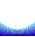 blue background from curved stripes vector image vector image