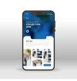 blue clothes online shopping ui ux gui screen for vector image vector image