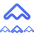 Blue line product logo design set vector image vector image