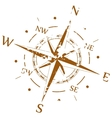 Brown grunge compass vector image