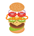 burger on white background vector image