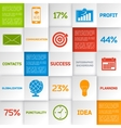 Business infographic squares vector image vector image