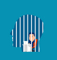 businessman locked in head freedom concept vector image