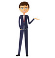 businessman presents something vector image
