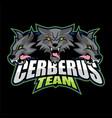 cerberus team logo vector image vector image