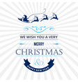 christmas card with white pattern vector image
