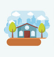 classic house icon vector image