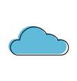 cloud weather symbol vector image vector image