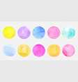 color watercolor circle set smear watercolour vector image