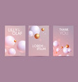 colorful flyer design template set with 3d gold vector image