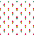 colorful ice cream in waffle cup pattern vector image